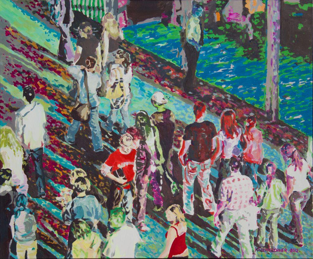 Menschenmenge II Acryl auf Leinwand
